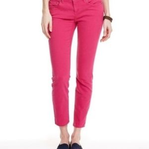 Vineyard Vines Pink Crop Ankle Slim Skinny Pants
